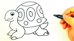 Cómo Dibujar Una Tortuga Para Niños Dibujo De Tortuga Paso A Paso