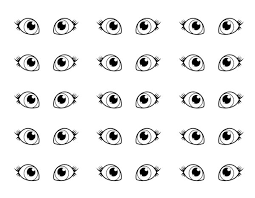 Eyes Pair Of Coloring Page