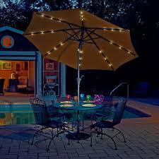 Solar Lighted Rectangular Patio Umbrella by Island Umbrella Santorini Ii 10 Ft Square Cantilever Patio