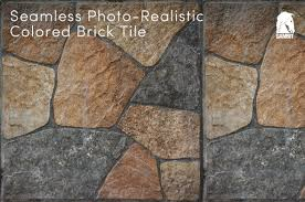 Hi Res Seamless Colored Brick Tile
