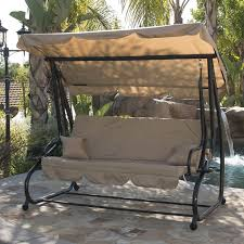 bellezza outdoor canopy porch swing bed hammock with steel frame