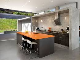 Beauty Your Room Interior Design With Modern Partition Decoration Stunning Kitchen Stone Wall Ideas And Black Orange Island