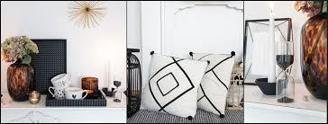 einrichten mit deko in schwarz weiß heimkleid