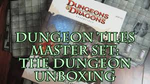 dungeons and dragons tiles master set dungeon tiles master set the dungeon unboxing