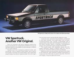 100 Rabbit Truck Lost Cars Of The 1980s Volkswagen Pickup Hemmings Daily