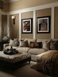 wandgestaltung braun beige wohnzimmer braunes wohnzimmer