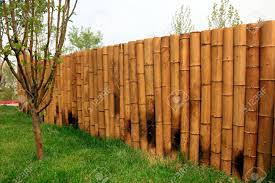 100 Bamboo Walls In A Park Stock Photo Picture And Royalty Free Image