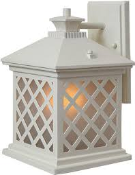 maybe trellis 11 75 h antique white outdoor wall light at menards