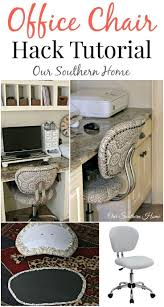 Office Chair Hack Tutorial | Sewing Ideas | Farmhouse Office ...