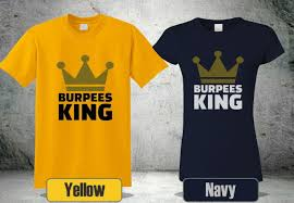 NEW BURPEE KING T-SHIRT CROSSFIT GYM WORKOUT FUNNY SHORT SLEEVE COOL 2 GP1  Funny Free Shipping Unisex Casual Top