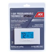 Warm Tiles Thermostat Not Working by Ace Programmable 7 Day Thermostat Thermostats Ace Hardware