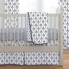 navy arrow crib bedding carousel designs