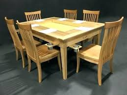 Game Table Chairs Without Casters Gaming Wood More On Inlaid Furniture Alluring A Geek Chic Photo