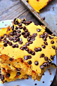 Easy Vegan Pumpkin Pancake Recipe by Vegan Pumpkin Chocolate Chip Sheet Pan Pancakes Rabbit And Wolves