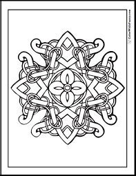 Fuzzys Celtic Coloring Pages Are Fun To Color This One Has A Flower In The Can You See Cross Shape