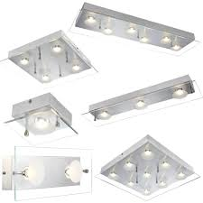 beleuchtung decken led design le alu glas platte leuchte
