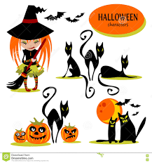 Characters For Halloween by Set Of Halloween Characters With Text Inside Grunge Typographic