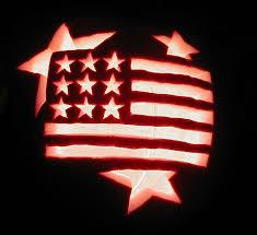 American Flag Pumpkin Pattern by Patriotic Pumpkin Halloween 2001 Tipi Dweller Flickr