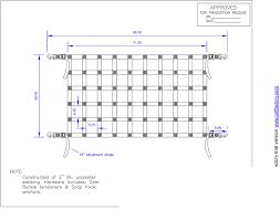 Work Truck Tailgate Net 92 X 42