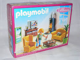 playmobil dollhouse wohnzimmer mit kaminofen 4 10