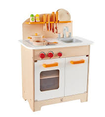 hape e8116 gourmet chef kitchen and cookware wooden play set kids