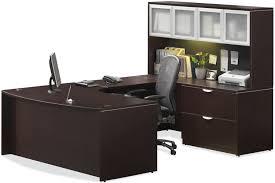 Bush Cabot L Shaped Desk Office Suite by Great Espresso Office Furniture Bush Cabot L Shaped Computer Desk