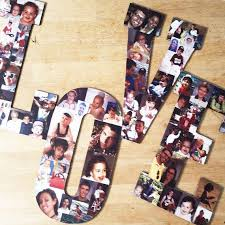 Custom Collage Letter Collage Wood Letters Personal