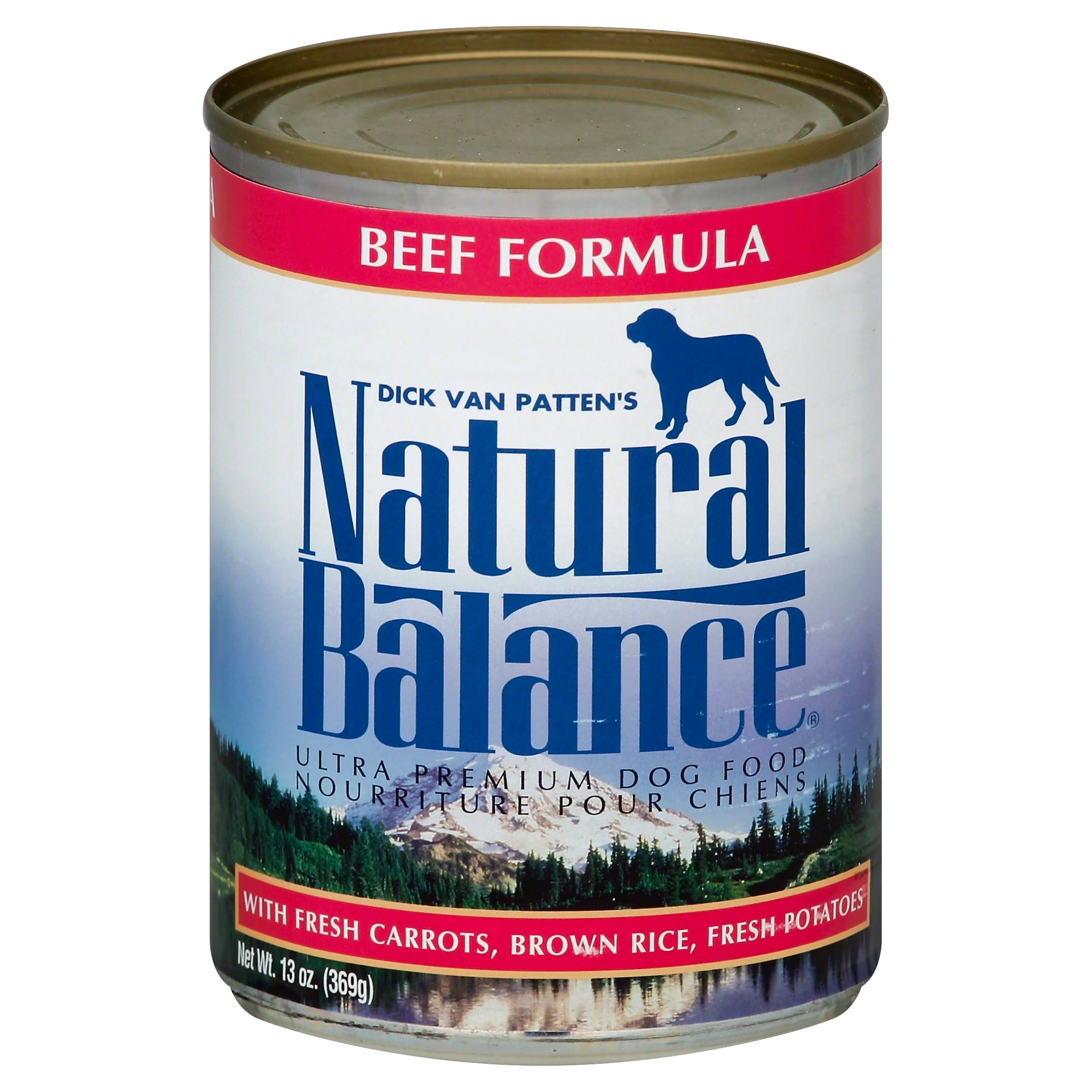 Natural Balance Ultra Premium Dog Food - Beef Formula, 13oz