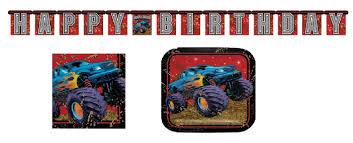 100 Monster Truck Theme Party Amazoncom D Supplies Mudslinger Plates