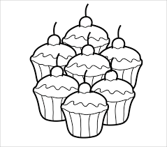 Go for this printable cupcake template consisting of cupcake shapes in an uncolored layout You can give desired color to this cupcake layout and can also