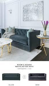 Amazon Sleeper Sofa Bar Shield by Room U0026 Board Macalster Sofa Copycatchic