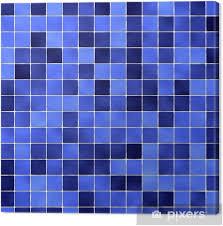 leinwandbild blaue fliesen im bad