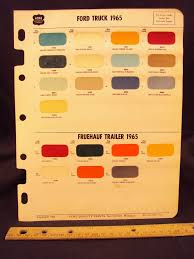 100 Ford Truck Colors 1965 FORD FRUEHAUF Trailer Paint Chip Page