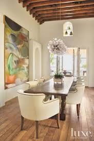 Dining Room Warm And Inviting Love The Large Scale Art