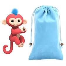 For Fingerlings MonkeySunfei Dolls Transportable Kids Enjoy Storage Bag Toys Rug Box Monkey Blue
