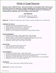 Writing A Resume With No Job Experience: 46 Options You Need ... Resume Samples Job Description Valid Sample For Recent High 910 Simple Rumes For Teenagers Juliasrestaurantnjcom 37 Phomenal School No Experience You Must Consider Template Ideas Examples Of Rumes Teenagers Inspirational Teen College Student With Work Templates Blank Students 7 Reasons This Is An Excellent Resume Someone With No