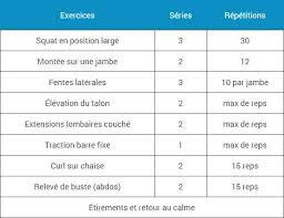 programmes d entraînement à la maison espace musculation