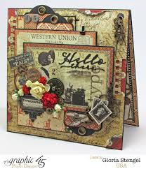 Correspondencedeskwestern Unioncom by Scraps Of Life Graphic 45 Communique Desk Top Card