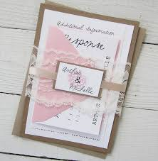 Amazing Full Wedding Invitation Sets Rustic Peony Pink Vintage Lace Nature