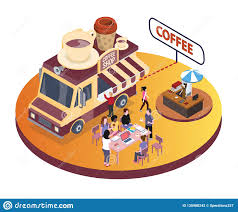 100 Where To Buy A Food Truck Coffee Isometric Rtwork People Re Enjoying Coffee