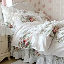Amazon FADFAY Elegant And Shabby Floral Bedding Set Twin Full