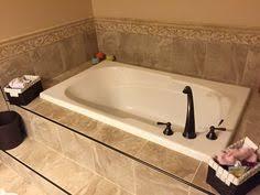 tile chair rail corner exle of drop in tub tiled bathroom