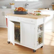Trash Cans Bed Bath Beyond by Real Simple Rolling Kitchen Island In White 300 Bed Bath