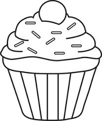 Muffin clipart outline 2