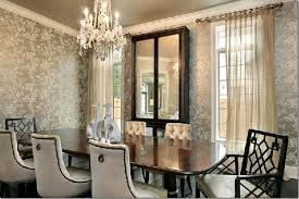 Extraordinary Wallpaper Dining Room Ideas Design For Rooms Magnificent Designs With Damask Patterns Interior