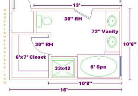 10x16 Master Bath Floor Plan