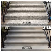 Quikrete Self Leveling Floor Resurfacer by Spring Update Resurfaced U0026 Repainted Concrete Steps Sole Grace