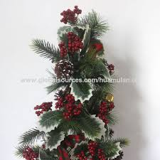 China Luxury Tall Artificial Christmas Tree With Bell Outdoor Decor In Wooden Pot Gift Ornaments
