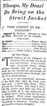 The Cabinet Of Dr Caligari 1920 Analysis by The Cabinet Of Dr Caligari White City Cinema