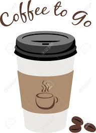 Use This Paper Coffee Cup To Drink Great Tasting Stock Vector